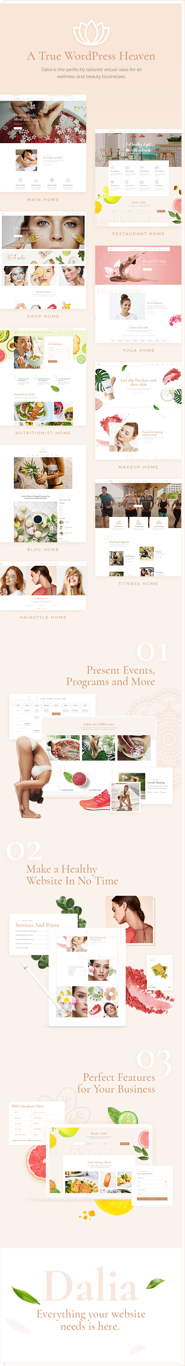 Dalia - A Modern Wellness and Lifestyle Theme - 1